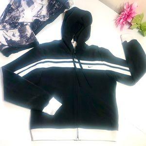 Nike zip up black jacket size M